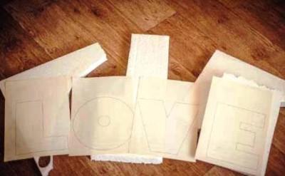 Как сделать объемные свадебные буквы из пенопласта своими руками