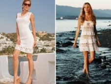 Вязаные платья: уют и изящество