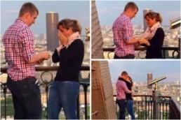 Интернет привела к буму загадочная помолвка на Эйфелевой башне
