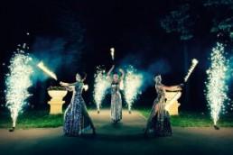 Огненное шоу на свадьбу: особенности проведения и преимущества